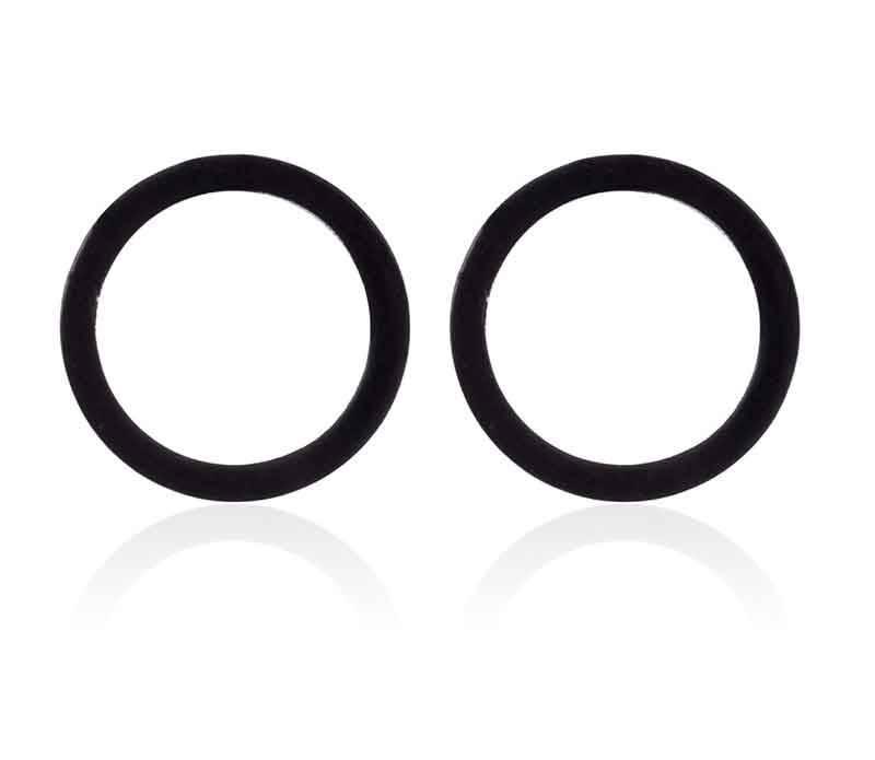 Zwarte open cirkel oorbellen