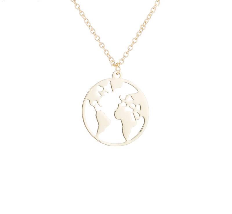 Joboly Globe world map earth necklace