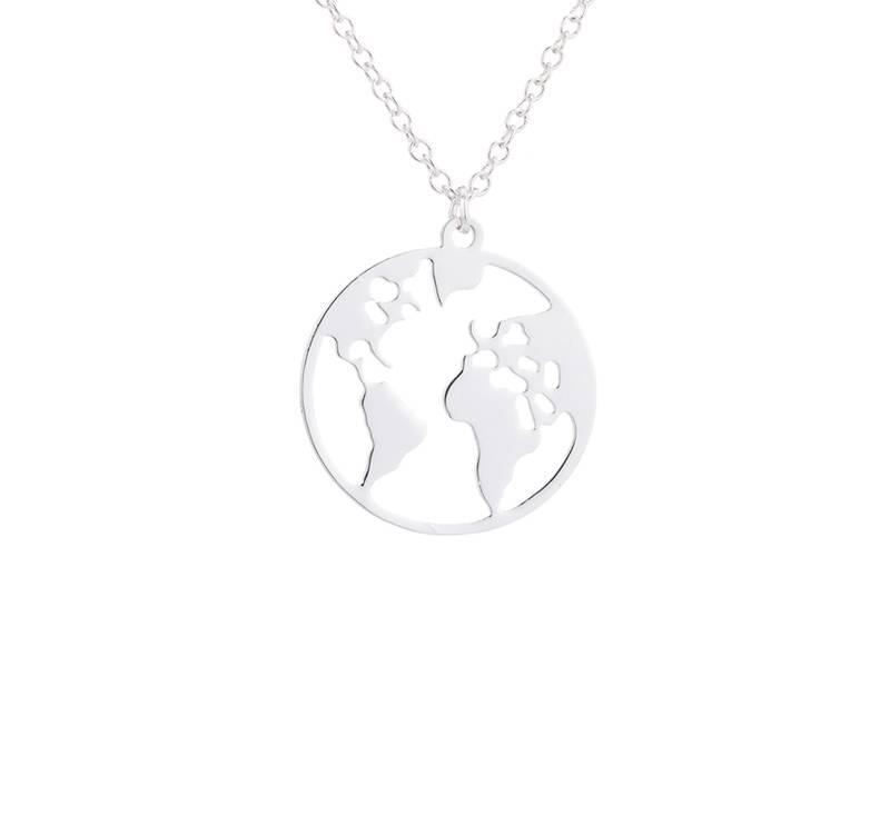 Wereldbol wereldkaart aarde ketting