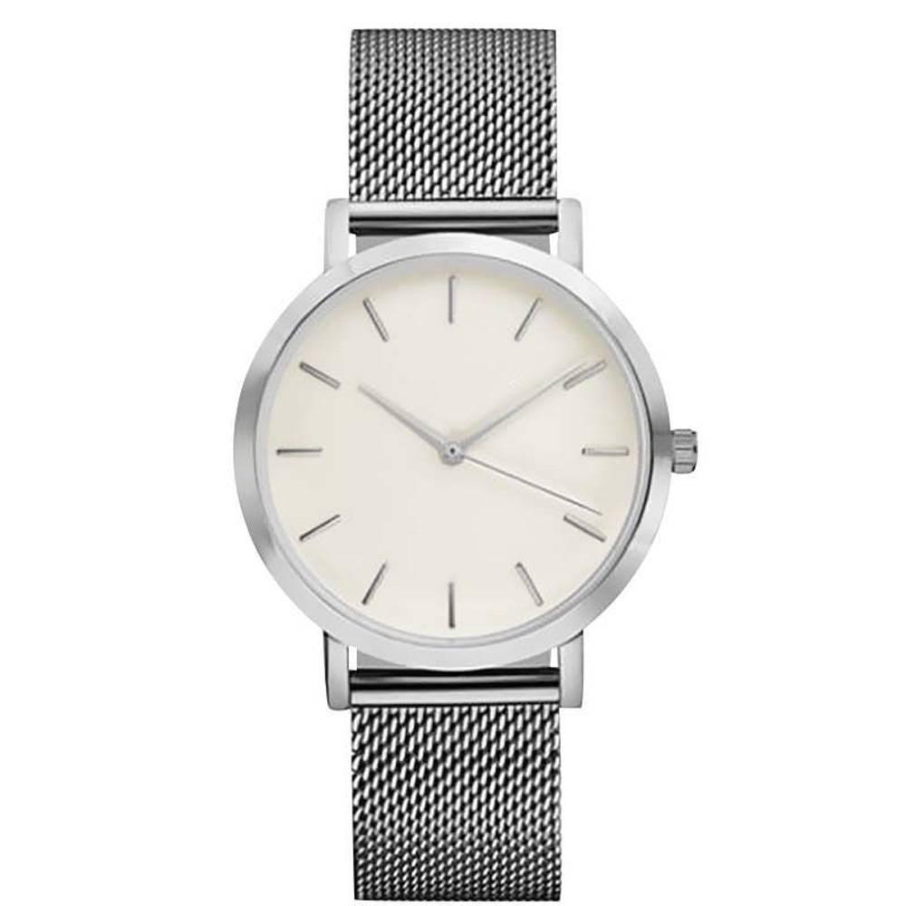 Joboly Vintage mesh horloge - staal - Ø 40 mm