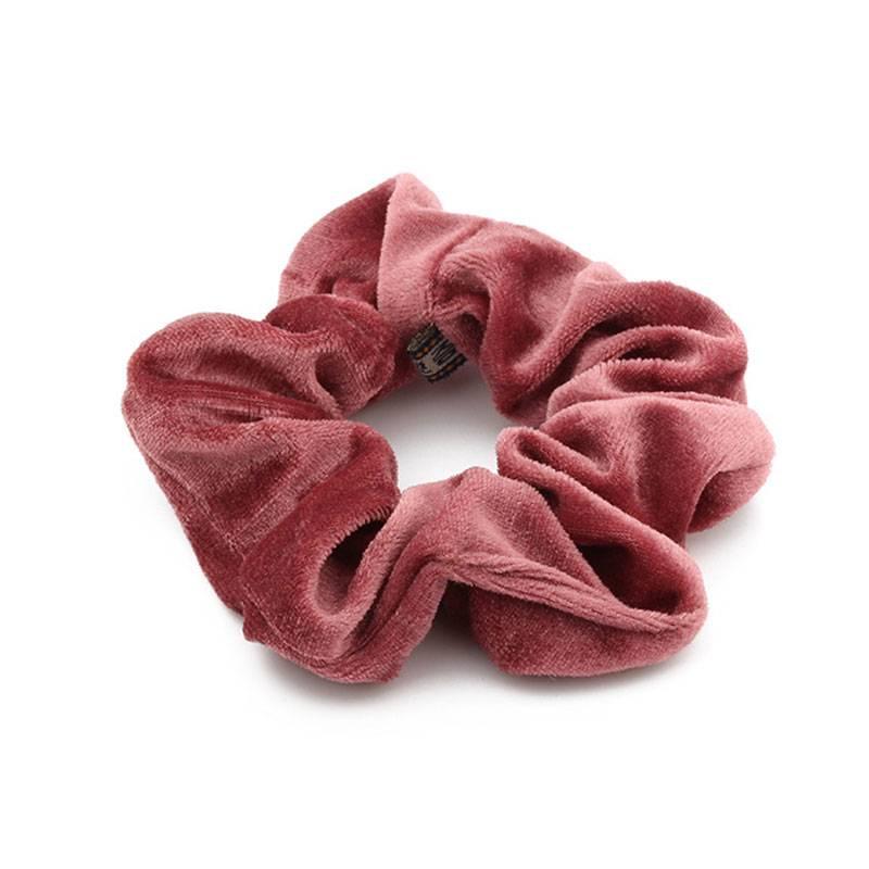 Joboly Scrunchie old roze velvet haarelastiek haarwokkel