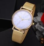 Joboly Vintage-Armbanduhr aus Marmor - Stahl - Ø 38 mm