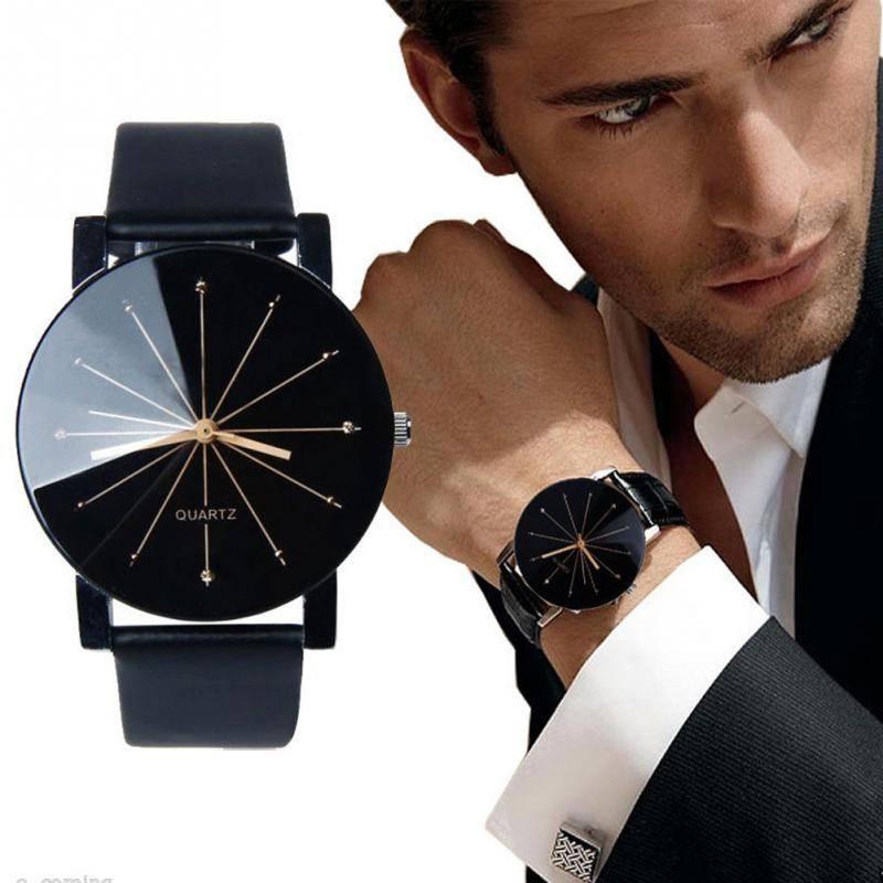 Joboly Zwarte quartz stoere horloge - Ø 40mm