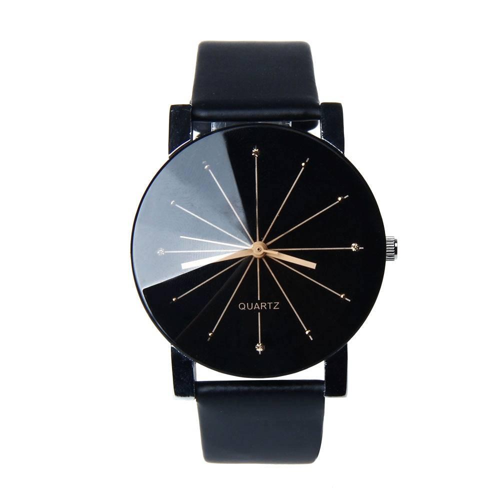 Zwarte quartz stoere horloge - Ø 40mm