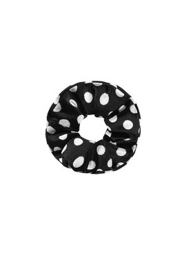 Joboly Scrunchie black dots velvet hair elastic haircollar