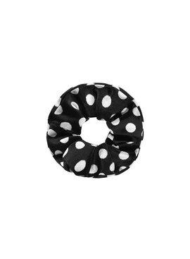 Joboly Scrunchie schwarze Punkte Samt Haar elastischer Haarwokkel