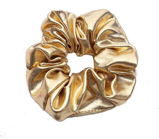 Joboly Scrunchie gold hair elastic haircock