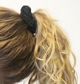 Joboly Scrunchie zwart glitter haarelastiek haarwokkel