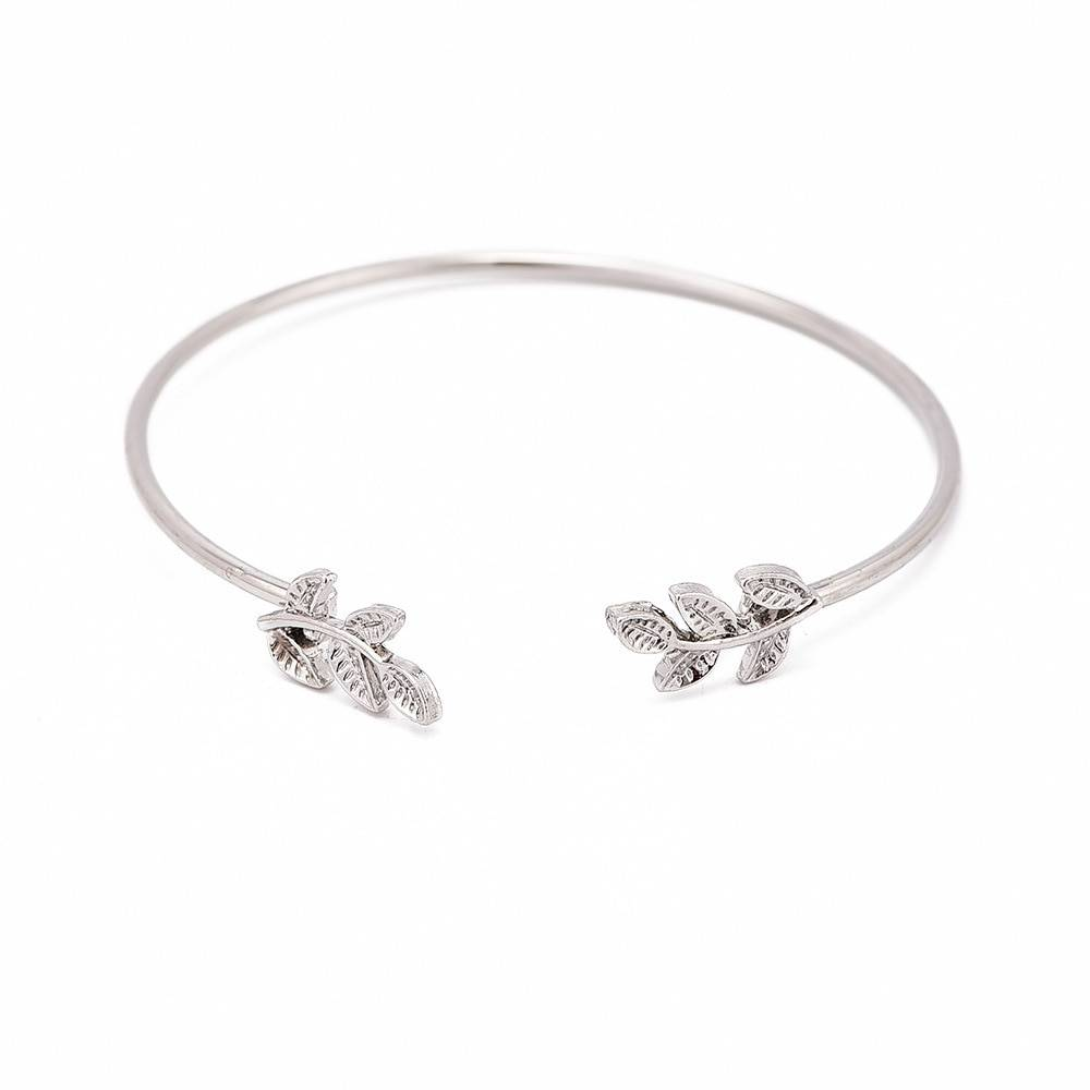 Joboly Set of bracelets leaf leaf feather clover clover 3 pieces
