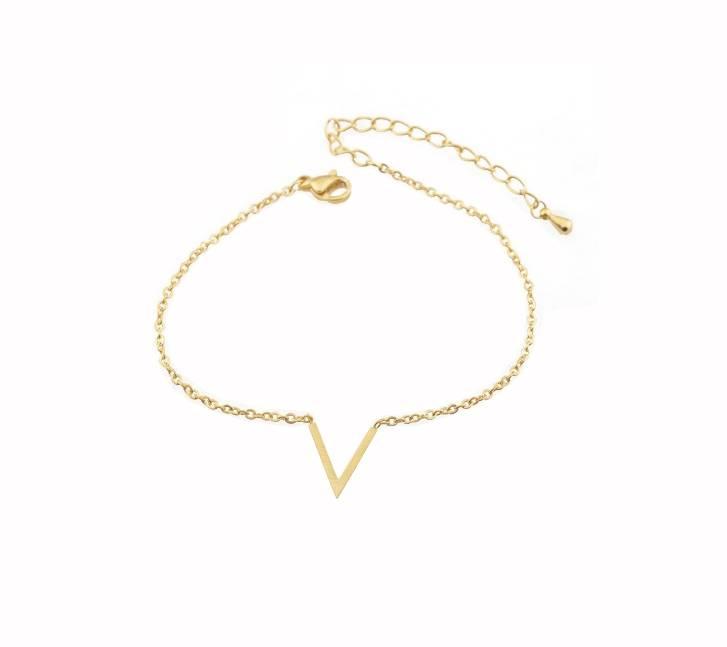 Joboly Minimalistic subtle V shape bracelet