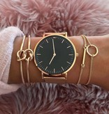 Joboly Set of bracelets knot bar and circle 3 pieces
