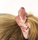 Joboly Scrunchie pink velvet hair elastic haircollar