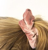 Joboly Scrunchie rosa Samthaar elastischer Haarkragen