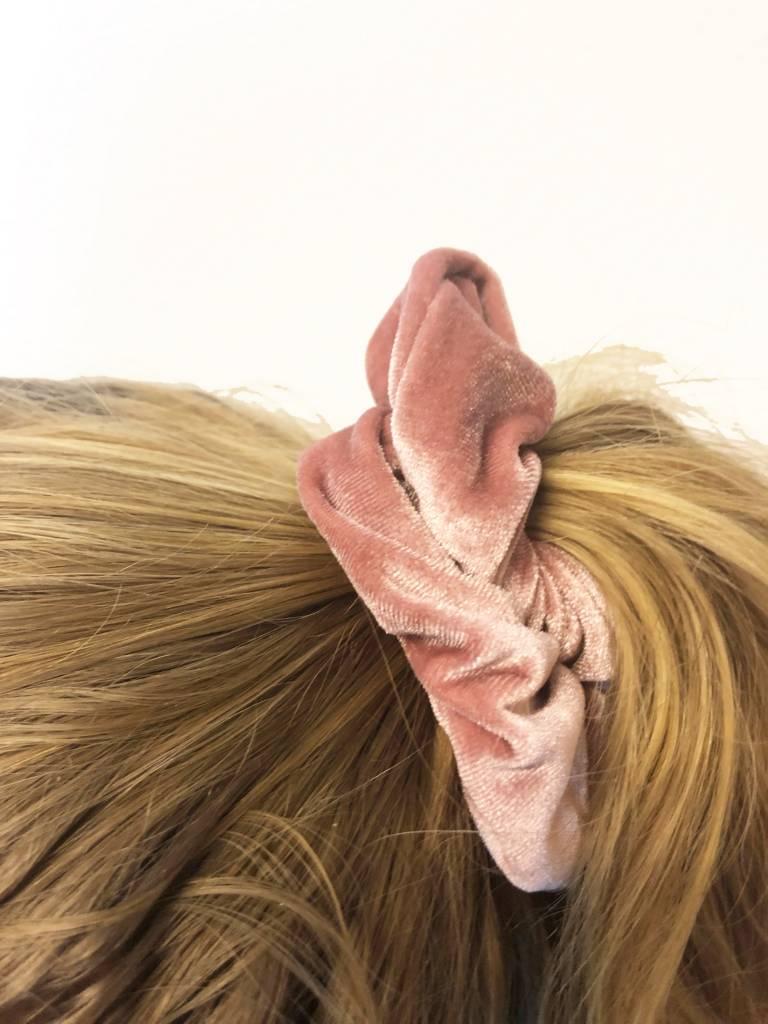 Joboly Scrunchie roze velvet haarelastiek haarwokkel