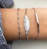 Joboly Sieraden Armband Veer - Dames - 925 zilver