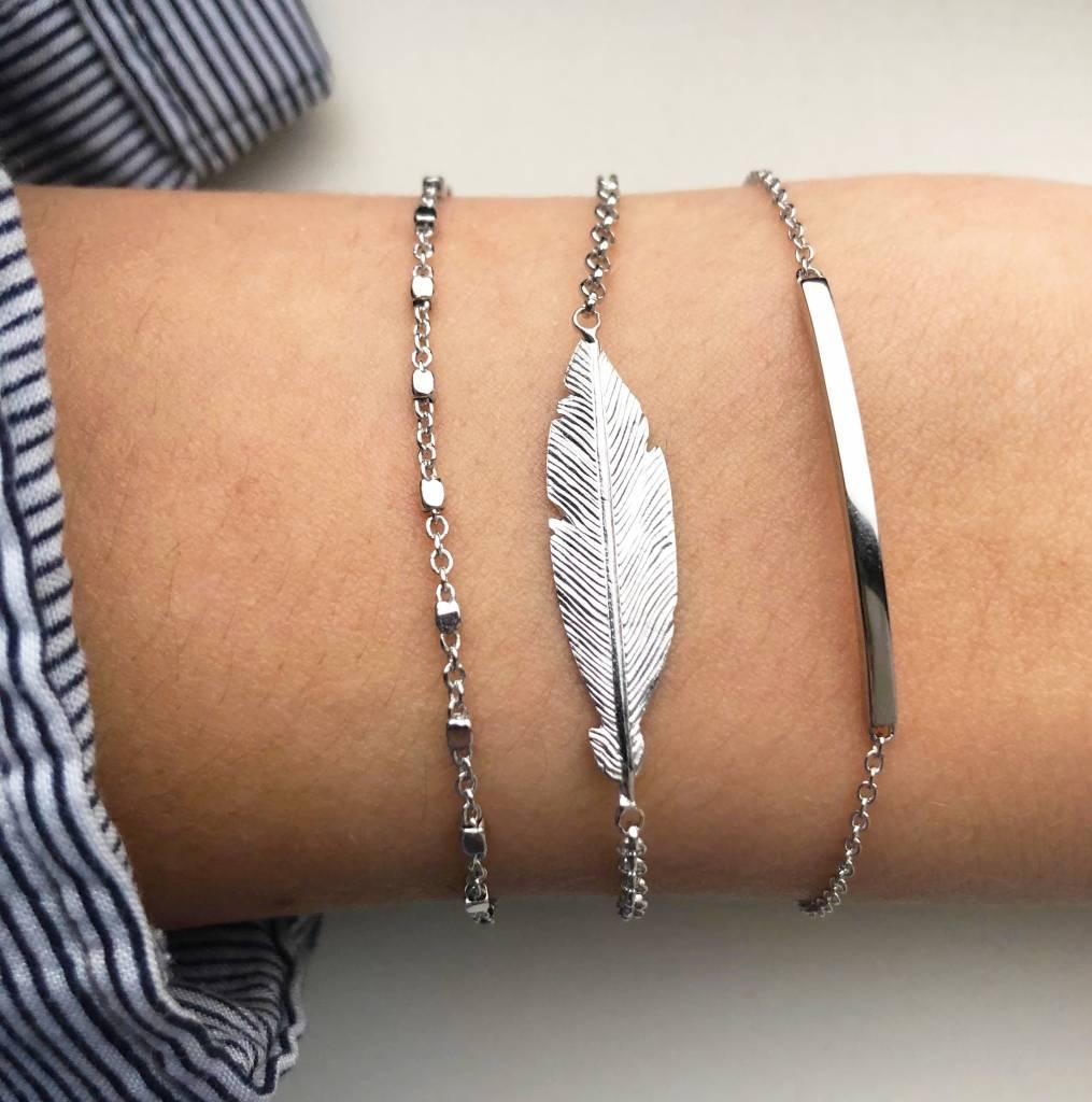 Joboly Joboly Sieraden Armband Veer - Dames - 925 Zilver
