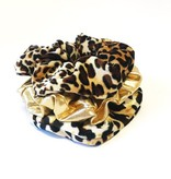 Joboly Scrunchie Leopard Velvet hair elastic