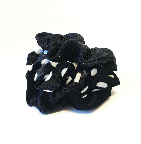 Joboly Scrunchie black velvet hair elastic haircollar