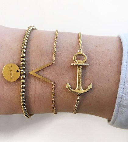 Joboly Minimalistische subtiele V vorm armband