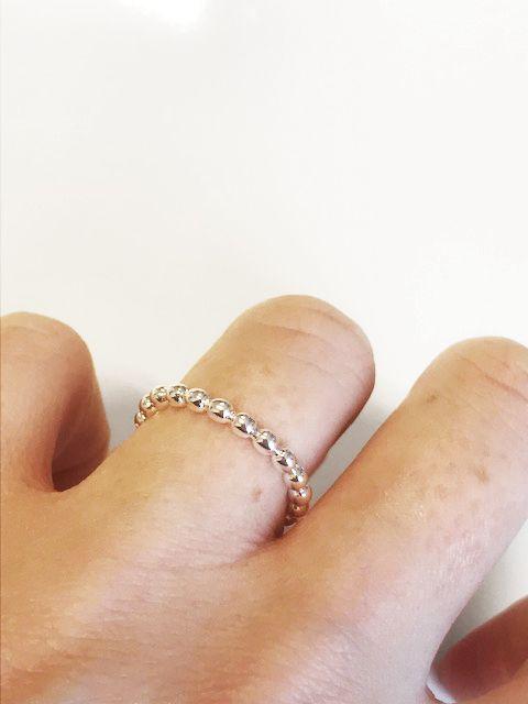 Joboly Minimalistische bolletjes dots ring
