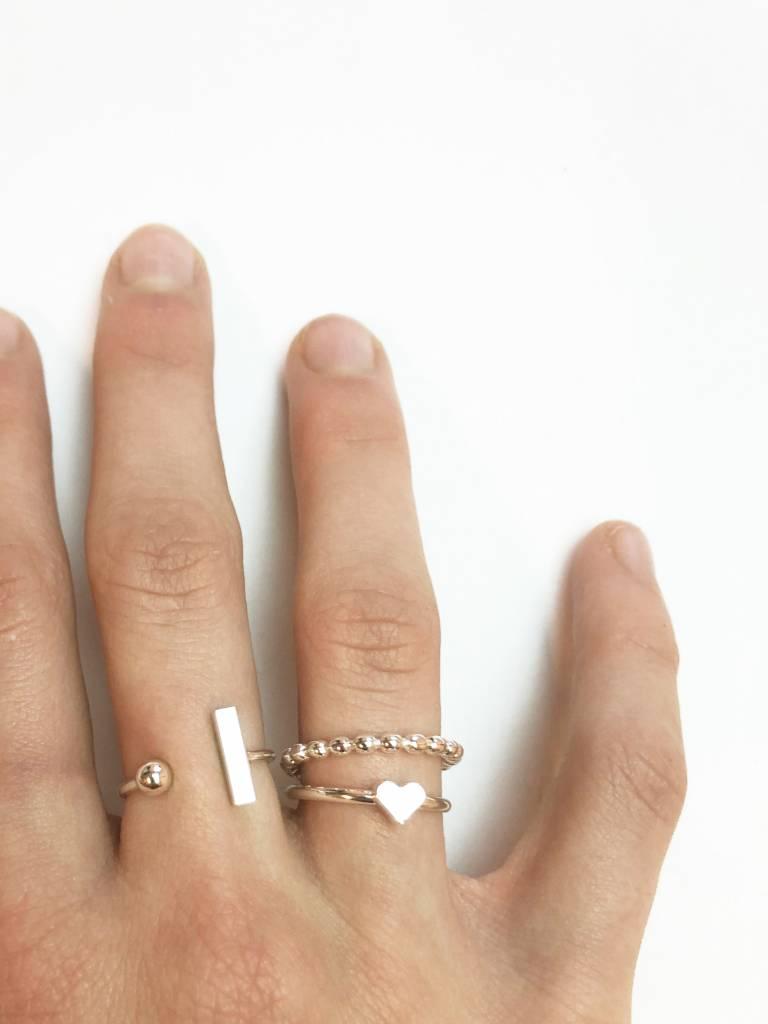 Joboly Bar minimalistischer Ring einstellbar