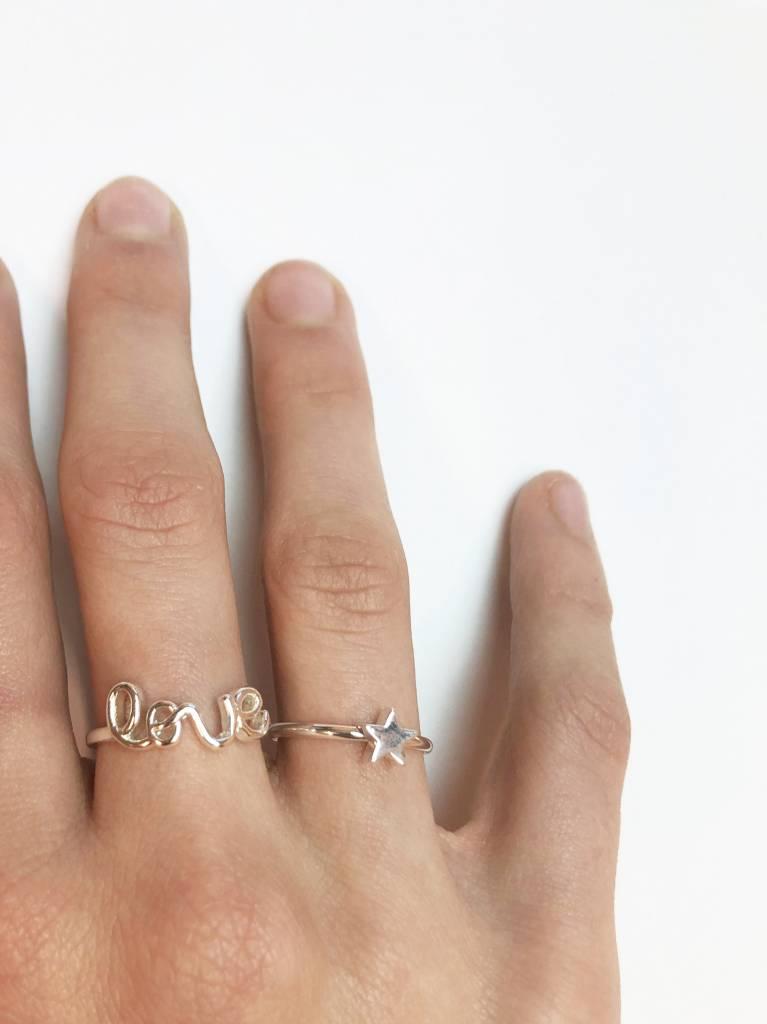 Joboly Star-ster hippe minimalistische ring