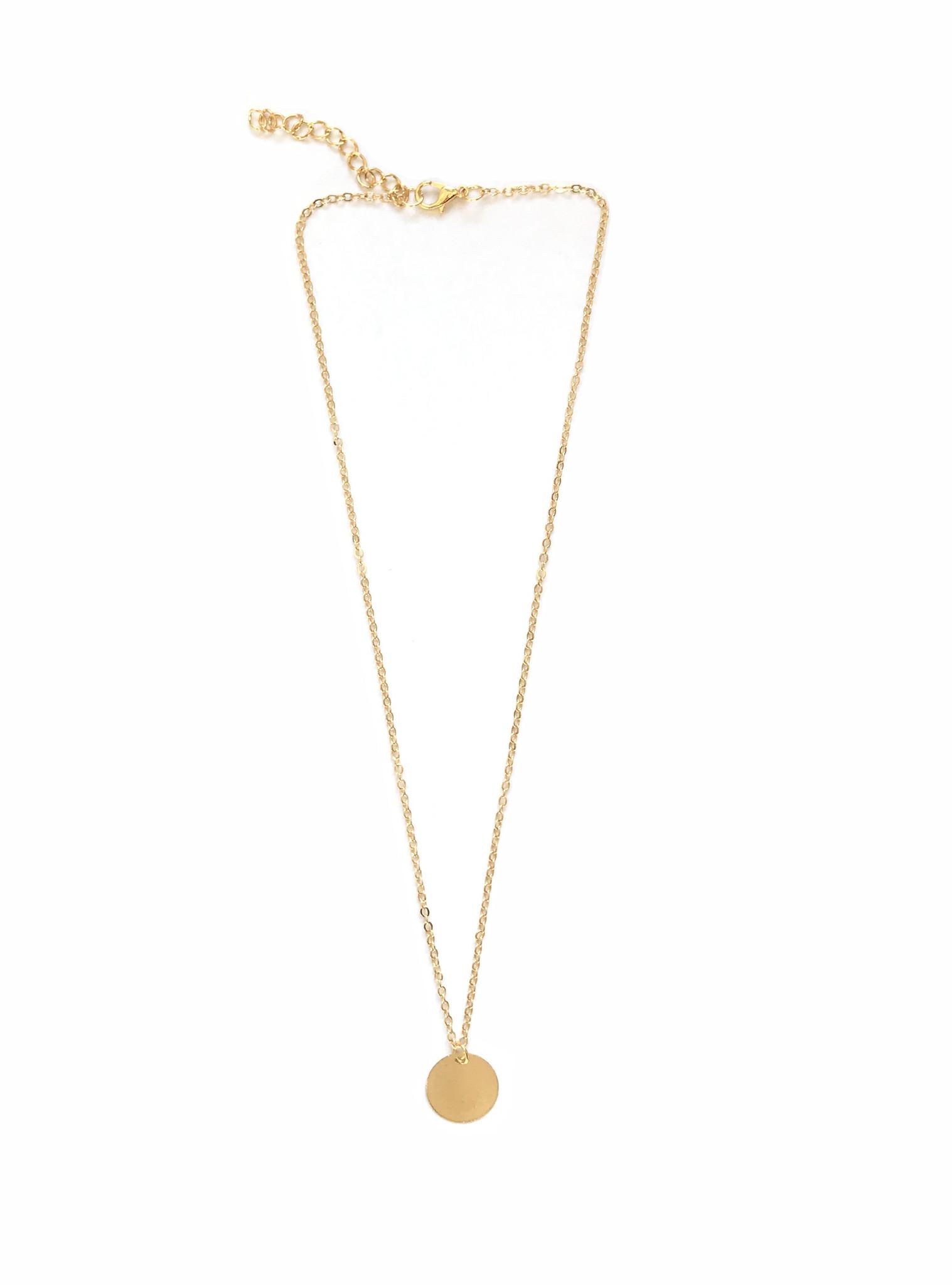 Joboly Große runde Halskette mit runder Münze