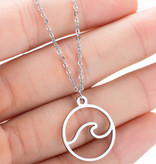 Joboly Wave surf water sea travel world necklace