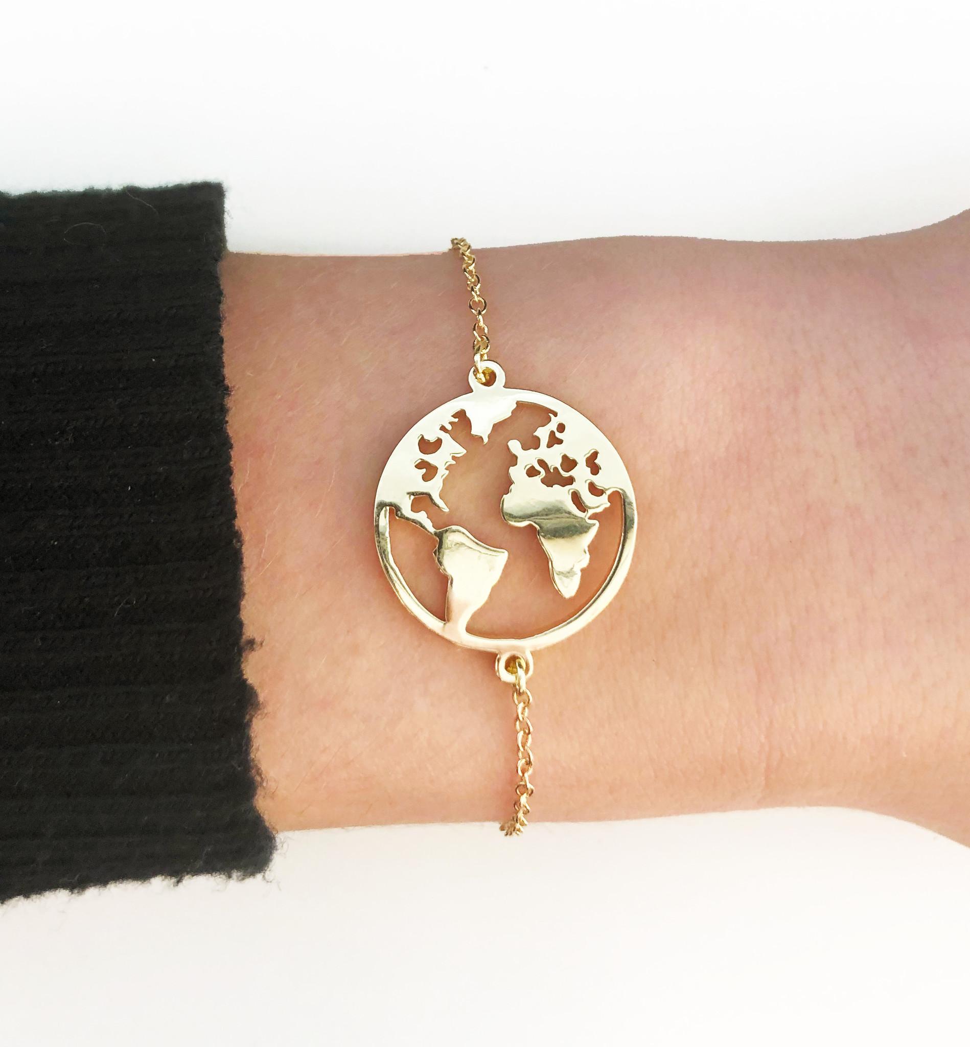 Joboly Globus Weltkarte Erde Armband