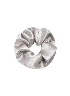 Joboly Scrunchie grauer Samt elastische Haarlocke