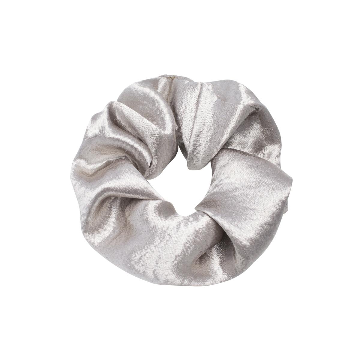 Joboly Scrunchie grijs velvet haarelastiek haarwokkel