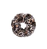 Joboly Scrunchie Leopard Velvet Hair elastischer Haarkragen