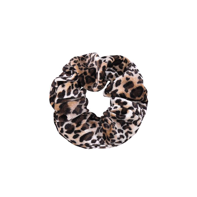 Joboly Scrunchie Leopard Velvet hair elastic haircollar