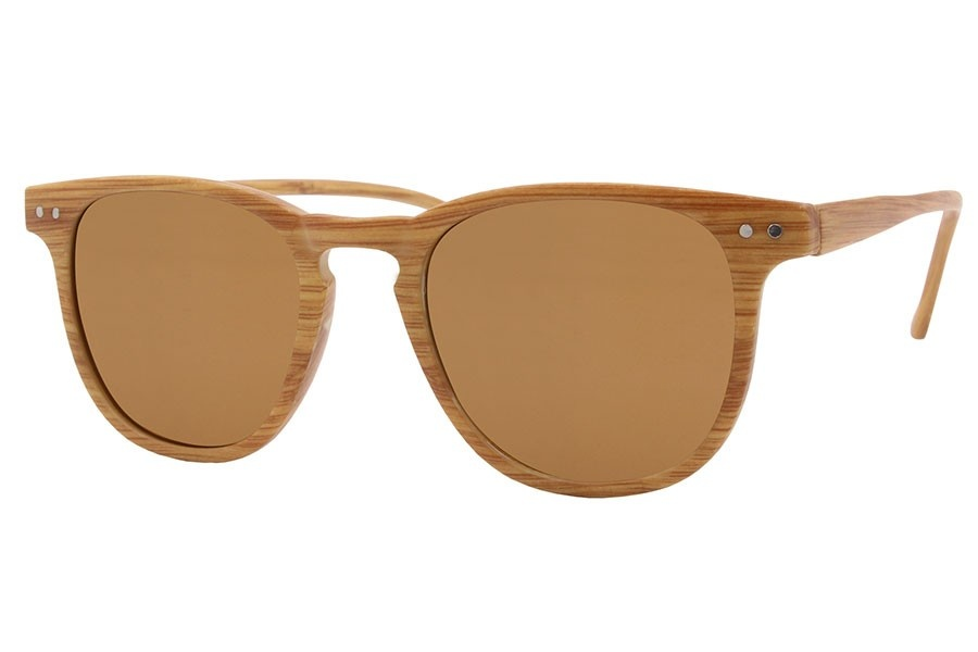 Joboly Wayfarer festival sunglasses wood look