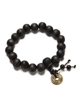 Joboly Buddha Tibet bracelet Mala dark brown