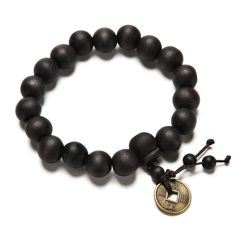 Joboly Buddha Boeddhistische Tibetaanse armband Mala donker bruin