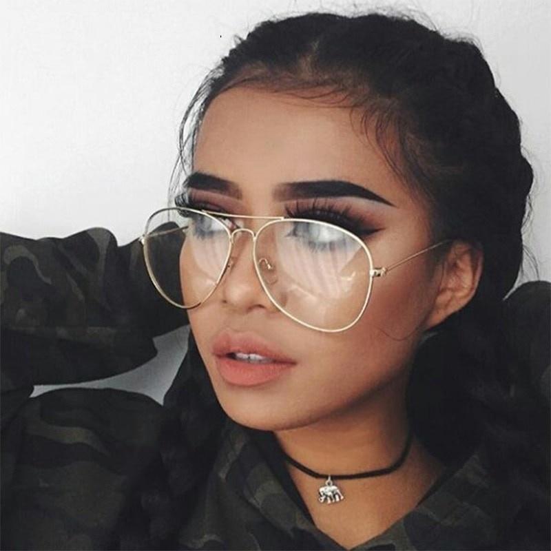 Joboly Pilotenbril Aviator festival nerd bril doorzichtige glazen
