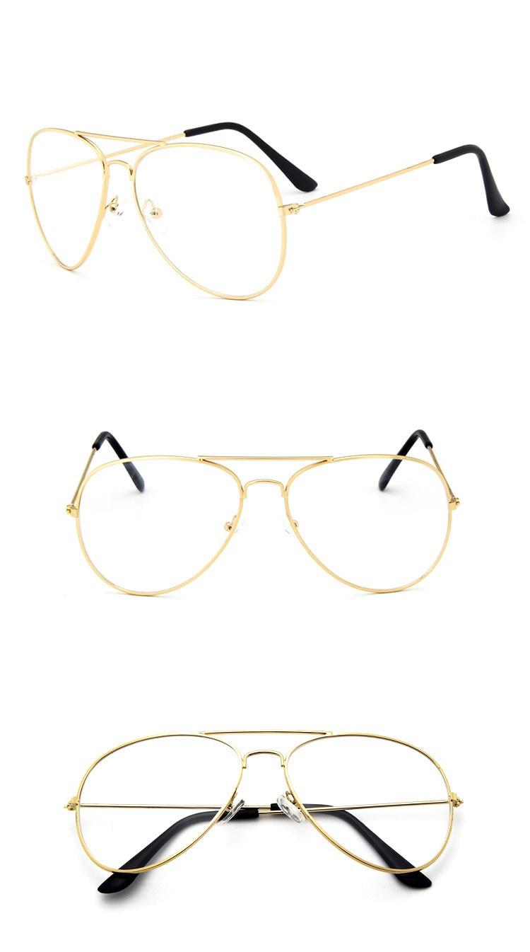 Joboly Aviator festival nerd glasses transparent glasses