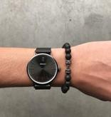 Joboly Harte Männer / Männer Hantel Hantel Training Fitness Lava Rock Perlen Armband