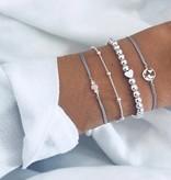 Joboly Set Armbänder Perlen Herzperlen 4 Stück