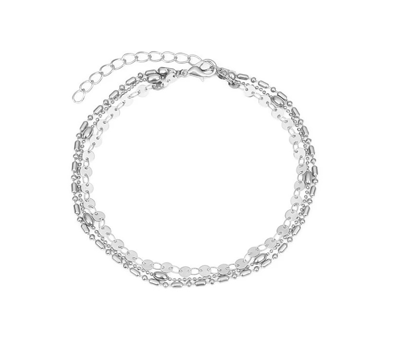 Joboly Multilayer coin coin anklet 3-piece