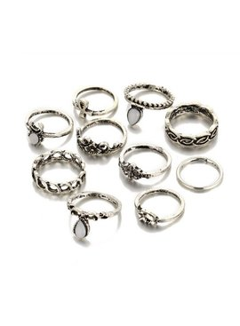 Joboly Modisches Ring-Set im Boho-Bohemian-Stil