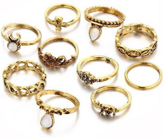 Joboly Modisches Ring-Set im Boho-Bohemian-Stil