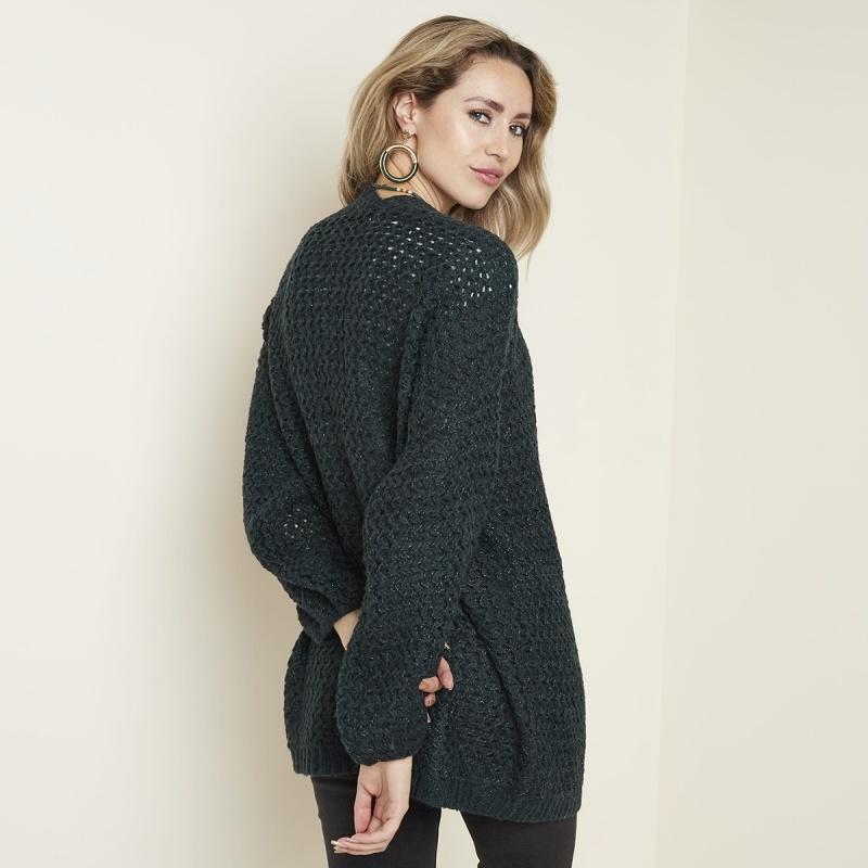 Joboly Green knitted cardigan