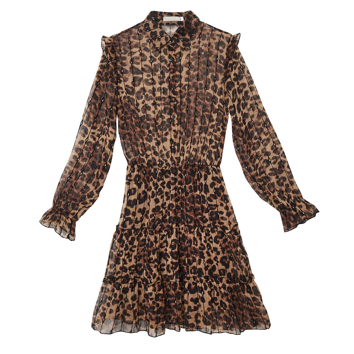 leoparden kleid kurz