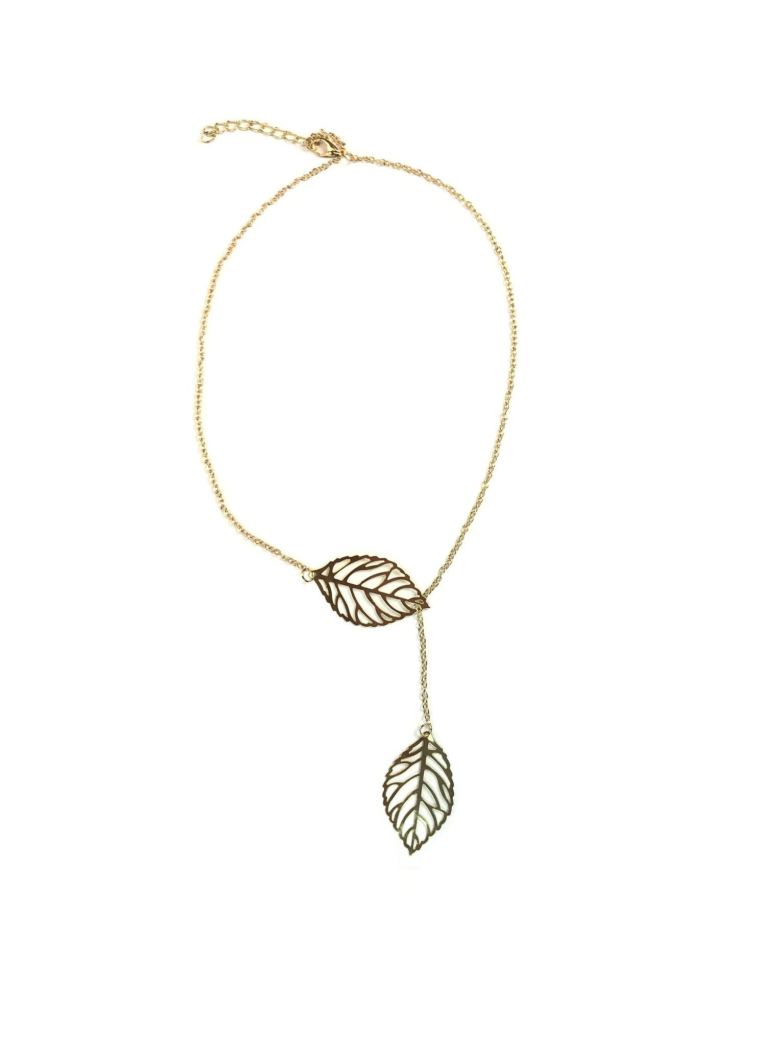 Joboly Blatt Blume Hüfte Boho Halskette