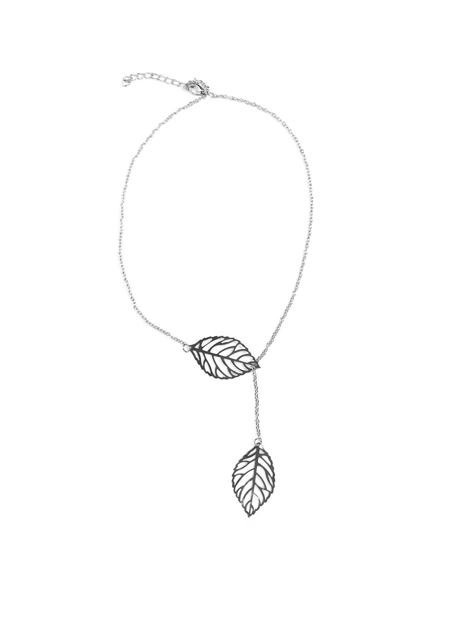 Joboly Leaf flower hip boho necklace