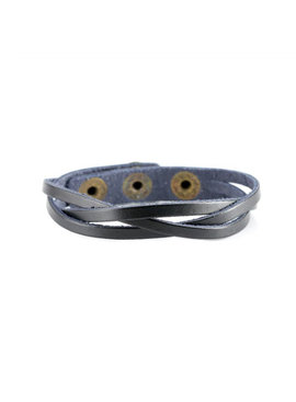 Joboly Stoere platte gevlochten mannen / heren armband met verstelbare sluiting
