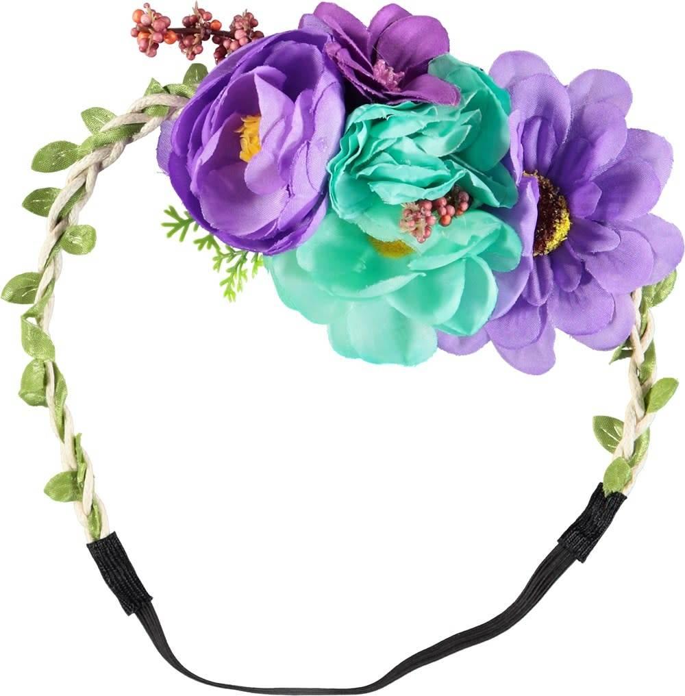 Molo Bloemen haarband paars