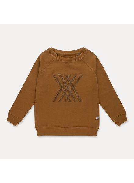 repose Repose classic sweater golden sun brown